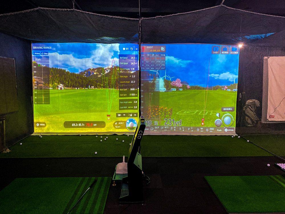 シミュレーションゴルフの店舗デザインと内装工事